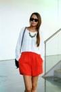 Zara-shorts-ray-ban-sunglasses-asos-necklace