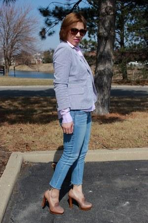 JCrew blazer - American Eagle jeans - Gap shirt - calvin klein loafers