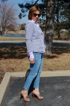 JCrew blazer - American Eagle jeans - Gap shirt - calvin klein loafers