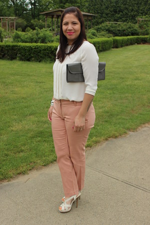 Forever 21 bracelet - Aldo bag - Avon watch - Loft pants - Loft top