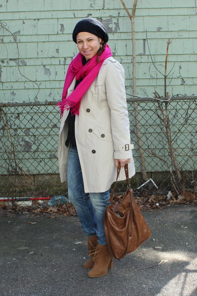 Forever 21 shoes - Forever 21 coat - American Eagle jeans