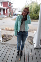 Collection By Fernandy via TJ Maxx jacket - American Eagle jeans