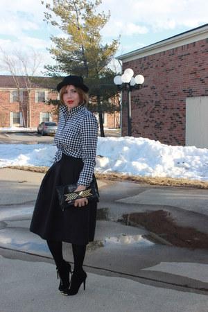 Gap shirt - Aldo bag - H&M skirt - Mossimo heels