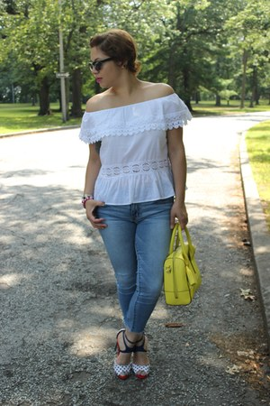 Victorias Secret top - American Eagle jeans - kate spade bag