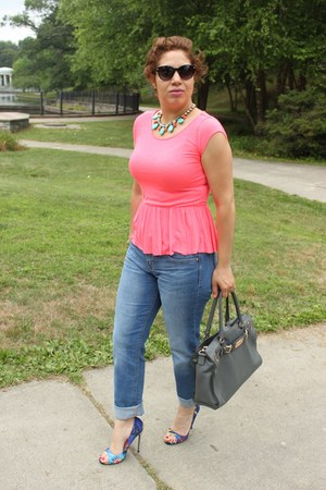 American Eagle top - Shoedazzle shoes - Gap jeans - Michael Kors bag
