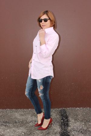 American Eagle jeans - Express shirt - Aldo heels