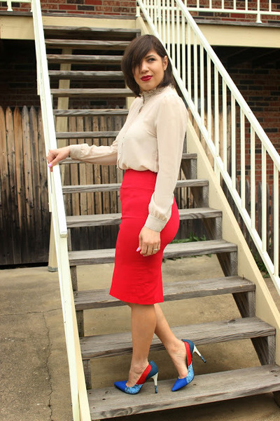 windsor skirt - F21 DIY shirt - Aldo pumps