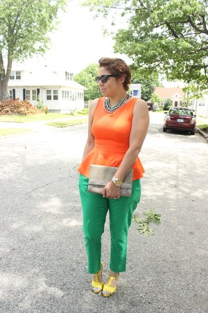 Aldo bag - banana republic pants - Shoedazzle sandals - JCPenney top