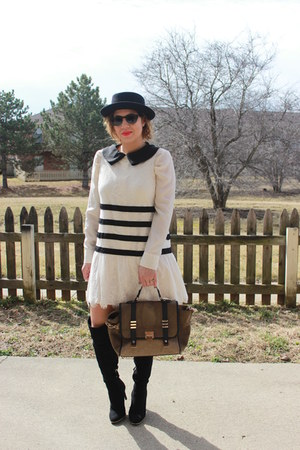 asos shirt - Target boots - Forever 21 dress - asos bag