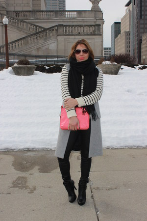 kate spade bag - BCBGeneration boots - American Eagle pants - Zara vest