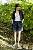 forever 21 blazer - forever 21 necklace - forever 21 t-shirt - Old Navy skirt -