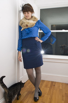 accessories - vintage blouse - vintage skirt