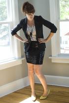 Target blazer - H&M t-shirt - Express skirt - Target shoes