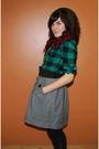 Green-forever-21-shirt-black-h-m-belt-silver-forever21-skirt-black-h-m-sto