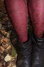 Red-f21-tights-black-f21-sweater-silver