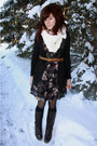 Navy-urban-outfitters-dress-black-jacob-cardigan-tawny-vintage-belt-dark-b