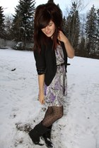Urban Outfitters dress - Urban Outfitters blazer - H& M tights