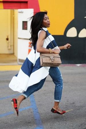 Gucci bag - AG jeans - coach flats - loeil blouse - Paula Mendoza bracelet