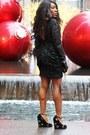 Black-h-m-dress-silver-giorgio-armani-purse-black-amazon-gloves