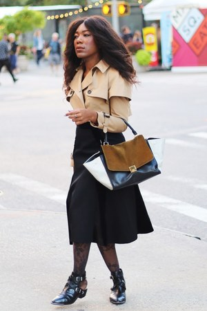 Alexander Wang skirt - sam edelman boots - Burberry jacket - Givenchy tights