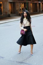black Alexander Wang skirt - sky blue dior shoes - nude Zara sweater