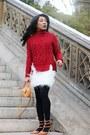 Bronze-valentino-shoes-brick-red-zara-sweater-camel-salvatore-ferragamo-bag