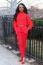 Red-h-m-sweater-maroon-celine-bag-white-valentino-sunglasses