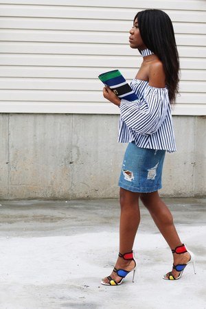 loeil top - PROENZA SCHOULER bag - Aquazarra sandals - rag & bone skirt
