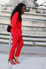 Red-h-m-sweater-maroon-celine-bag-white-valentino-sunglasses