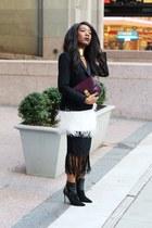black Sergio Rossi boots - black Target blazer - maroon Celine bag