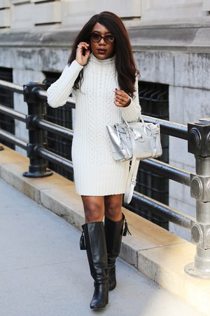 coach boots - Club Monaco dress - Ralph Lauren bag - Prada sunglasses