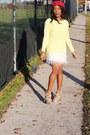 Reiss-hat-light-yellow-zara-sweater-giorgio-armani-purse