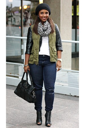 cropped leather Arden B jacket - Forever21 boots