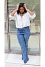 Forever-21-jeans-liz-claiborne-blouse
