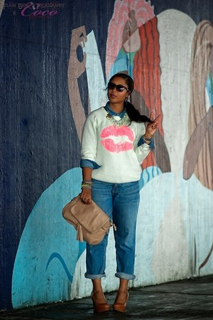 Forever 21 sweater - boyfriend jeans Mossimo jeans