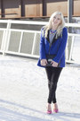 Blue-tweed-motocross-forever-21-coat