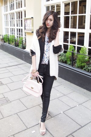 black boyfriend Forever21 blazer - light pink miss sicily Dolce & Gabbana bag
