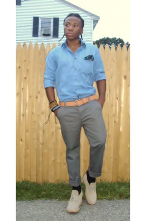 Hugo Boss shirt - Clarks shoes - self-made accessories