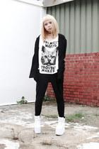 Bershka blazer - moooh t-shirt - YRU sneakers