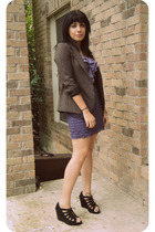 brown Silence and Noise for Urban Outfitters blazer - purple silence and noise b