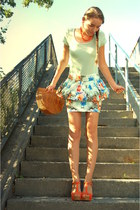 peplum Zara skirt - vintage bag