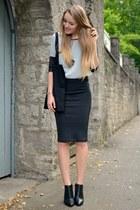black Pimkie boots - Primark shirt - H&M skirt