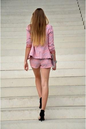 Pimkie blazer - silver H&M bag - Pimkie shorts