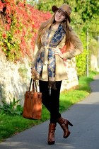 trench coat Vero Moda jacket - H&M hat - brown CCC bag - brown CCC heels