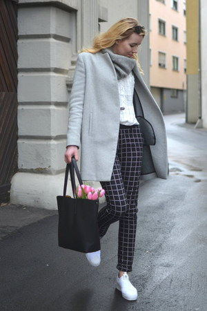 Zara coat - Opus shirt - Deichmann bag - mangun pants - Adidas sneakers