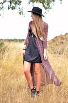 maxi floral Vila dress - H&M hat