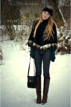 feather poncho vintage cape - vintage bag