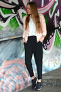 Pink-soliver-jacket-black-h-m-pants-glitter-uno8uno-sneakers