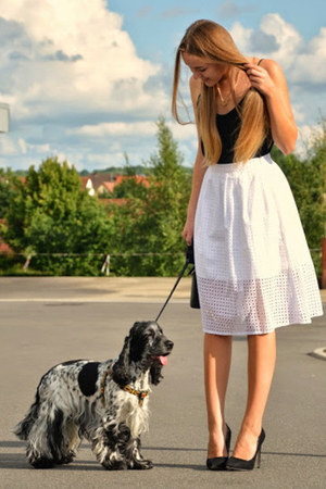 midi Zara skirt - Pimkie shirt - black Jumex heels