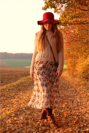 vintage skirt - Pimkie jumper